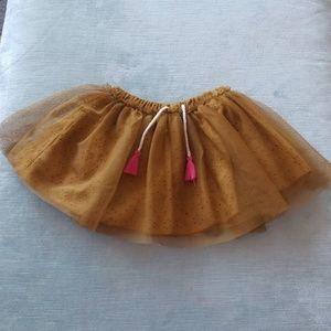 Zara baby mustard yellow tutu skirt